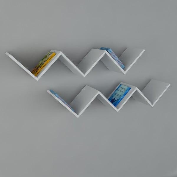Polica Zig Zag White, 22x129x50 cm