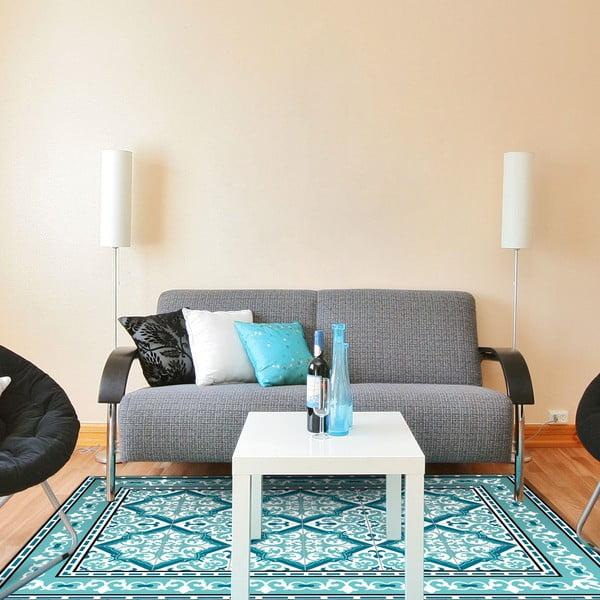 Odolný vinylový koberec Turquoise Geometric 120x170 cm