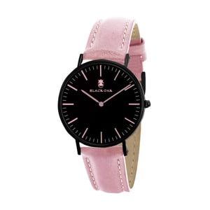 Ružovo-čierne dámske hodinky Black Oak Crown