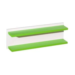 Biela polička so zelenými detailmi KICOTI Circle
