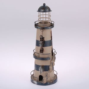 Kovový závesný svietnik Blue Lighthouse, 32 cm