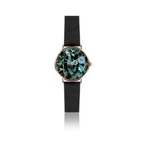 Dámske hodinky s čiernym remienkom z antikoro ocele Emily Westwood Fun