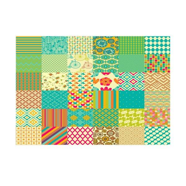 Koberec z vinylu Cuadros Texturas Retro, 133x200 cm