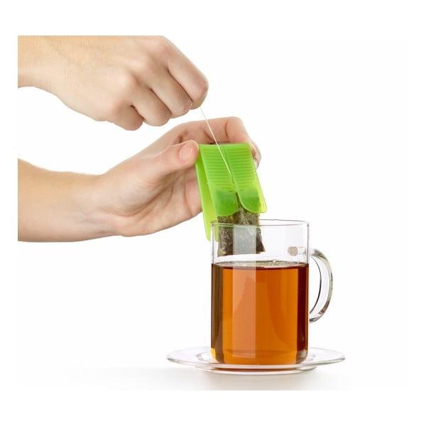 Silikónový obal na čajové vrecúška, čierny