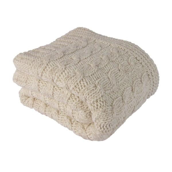 Béžová deka s ovčou vlnou