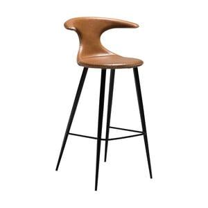 Hnedá barová stolička s koženým sedadlom DAN-FORM Denmark Flair