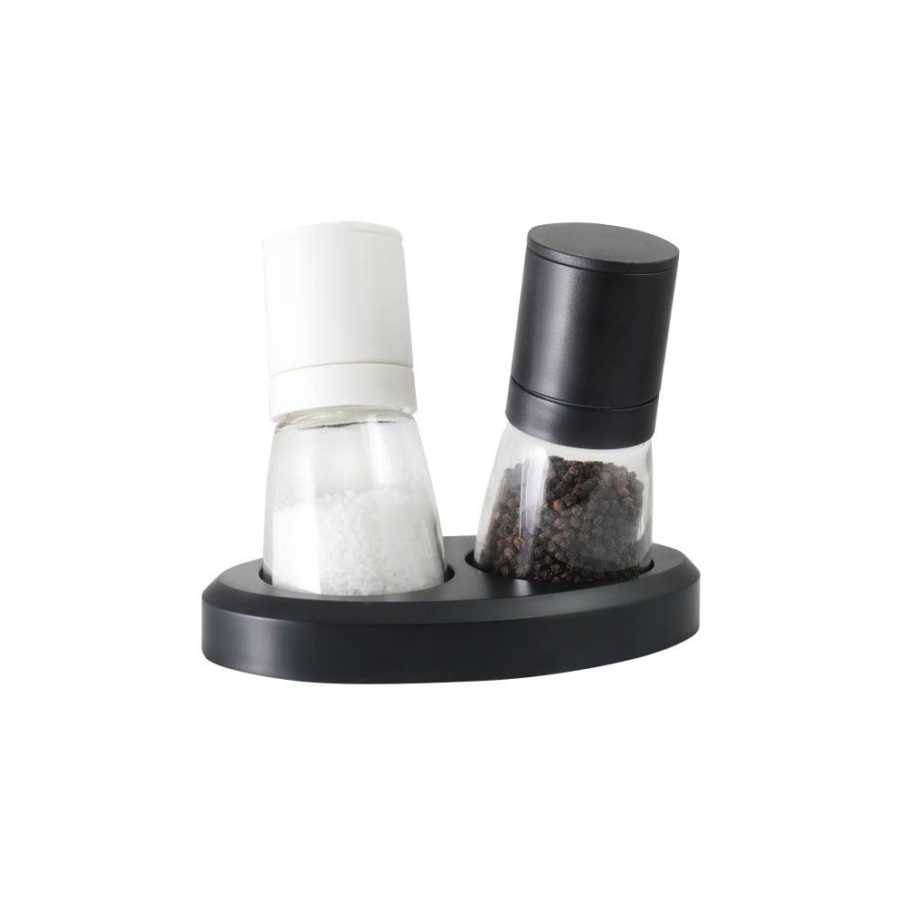 Sada mlynčekov na korenie a soľ Vialli Design Black&White