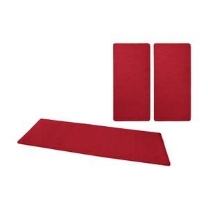 Sada 3 červených kobercov okolo postele Hanse Home Fancy