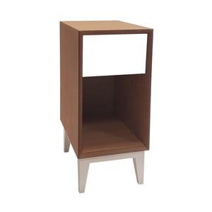 Malý nočný stolík s bielou zásuvkou Ragaba PIX