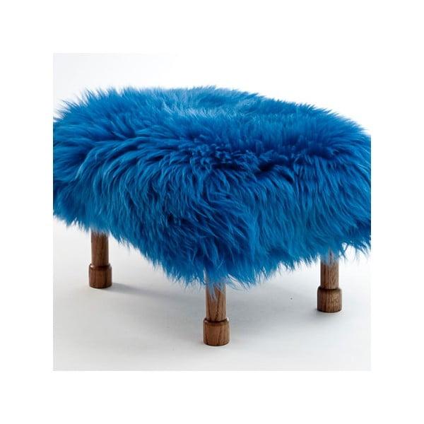 Stolička z ovčej kožeDelyth Cornflower Blue