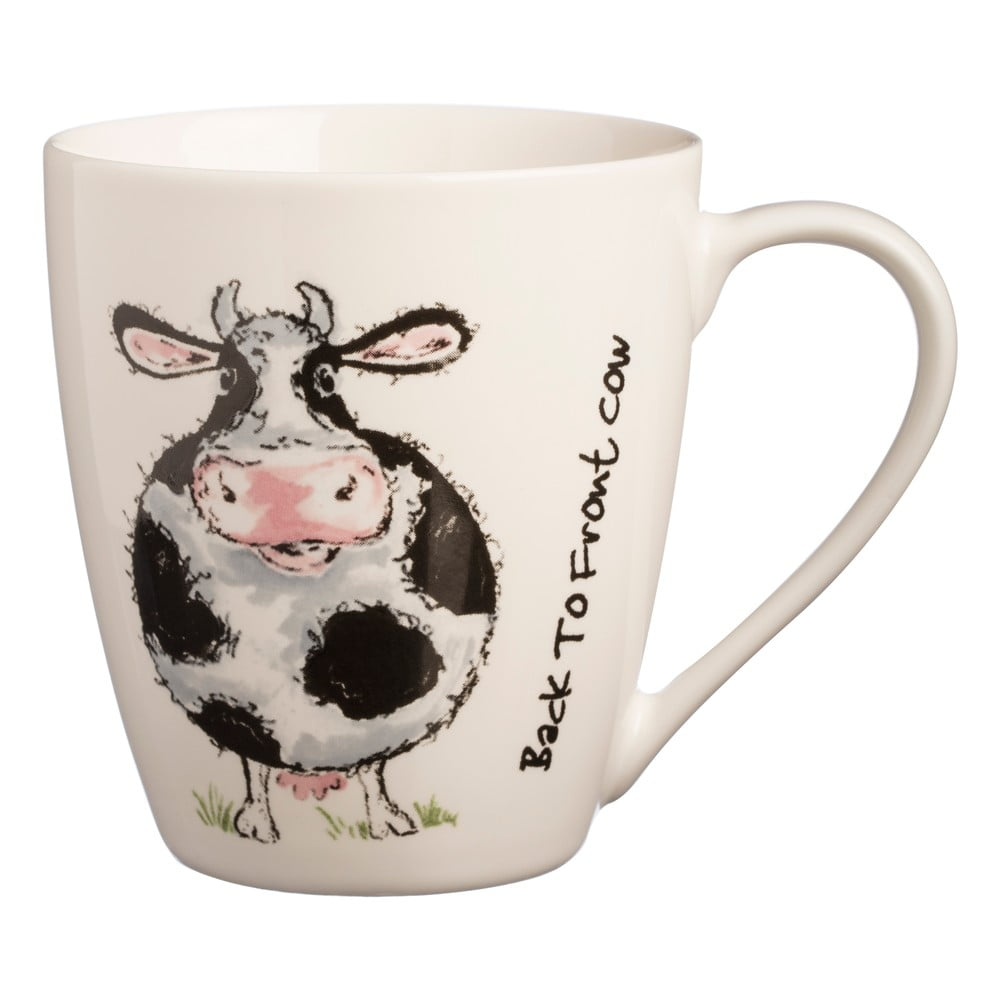 Hrnček s motívom kravy z porcelánu Price & Kensington B2F Cow, 340 ml