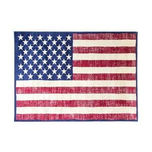 Koberec s motívom americkej vlajky Cotex, 140 × 200 cm