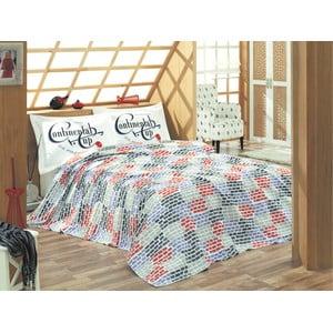 Sada prikrývky cez posteľ a prestieradla U.S. Polo Assn. Kenner, 200x220 cm