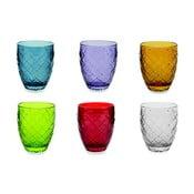 Sada 6 farebných pohárov Villa d'Este Acqua, 350 ml