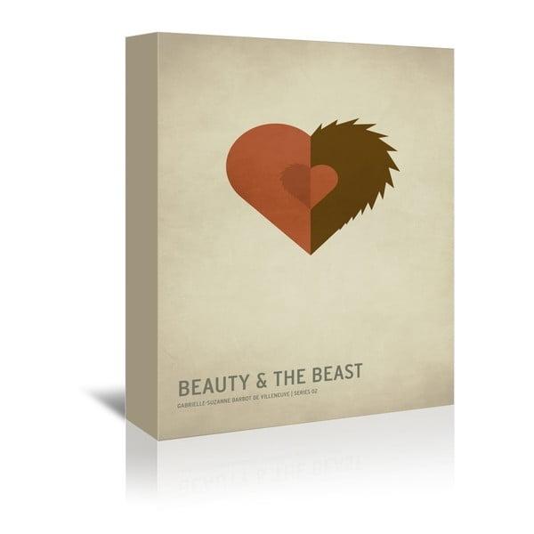Obraz na plátne Beauty and the Beast With Text od Christiana Jacksona