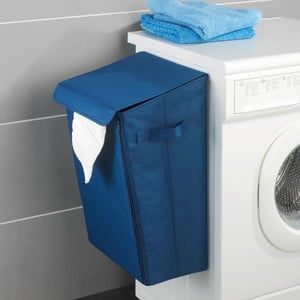 Modrý závesný kôš na bielizeň Wenko Mobile Laundry
