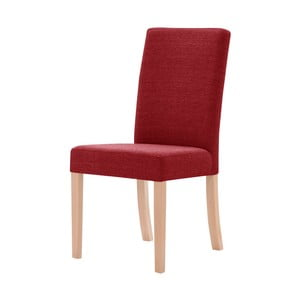 Červená stolička s hnedými nohami Ted Lapidus Maison Tonka