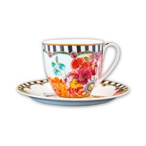 Porcelánová šálka s tanierikom Melli Mello Stripes, 150ml