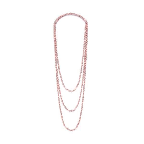 Náhrdelník z ružových periel GemSeller Ajuga