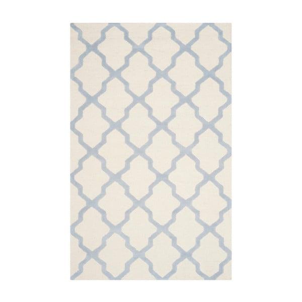 Vlnený koberec Ava Light Blue, 121×182 cm