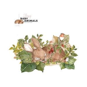 Nástenná samolepka Dekornik My Little Wild Rabbit, 140 x 80 cm