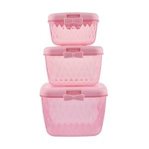 Sada 3 plastových dóz Miss Étoile Pink