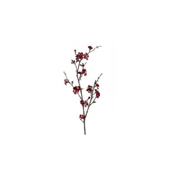 Umelý kvet Tmavočervená vetva
