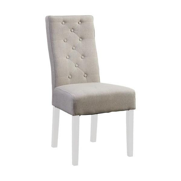 Béžová stolička s bielymi nohami Canett Tango