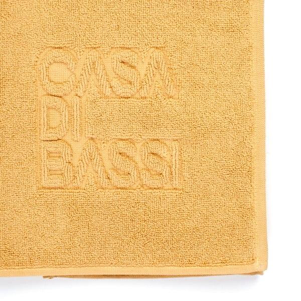 Žltá bavlnená kúpeľňová predložka CasaDiBassi Basic,50x70cm