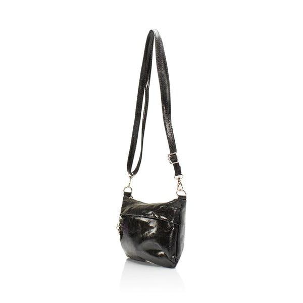 Čierna kožená kabelka Lisa Minardi Lola