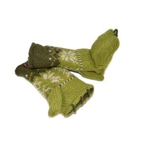 Vlnené palčiaky bez prstov Zelená vločka