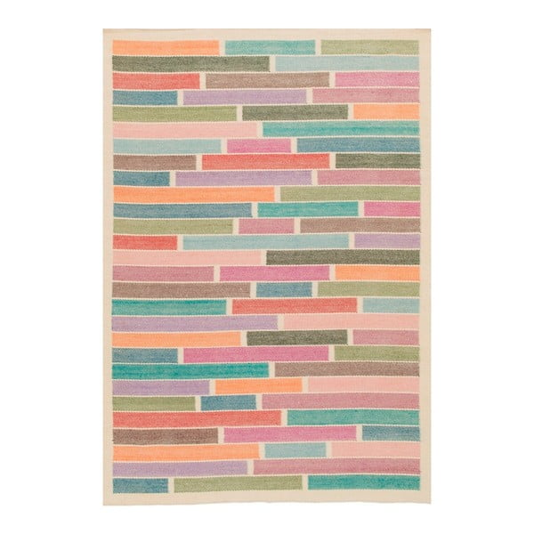 Ručne tkaný vlnený koberec Rubina White,170x240cm