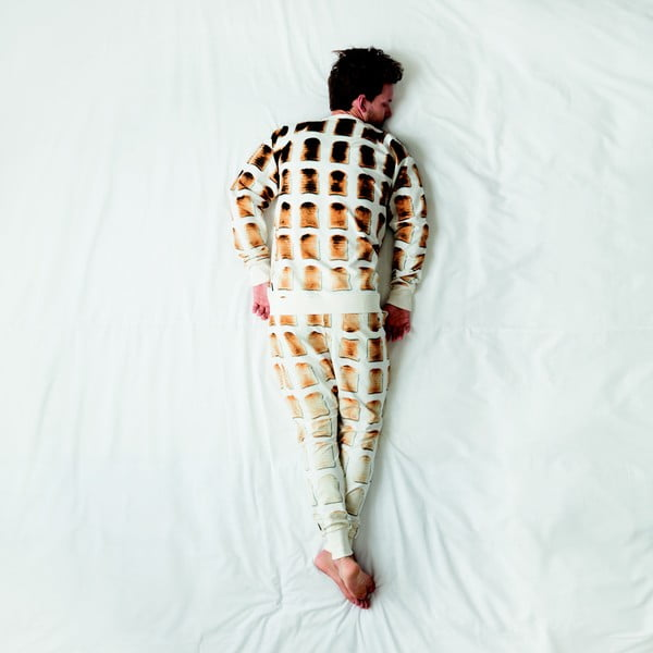 Pánske biele nohavice Snurk Toast, S
