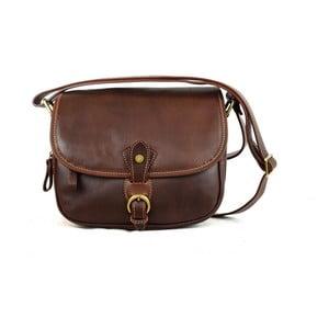 Kožená kabelka Santo Croce M6806 Dark Brown