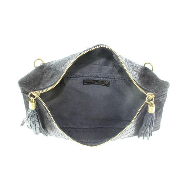 Kožená listová kabelka Wissa, čierne