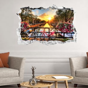 3D samolepka na stenu Ambiance Sunrise ovr Amsterdam
