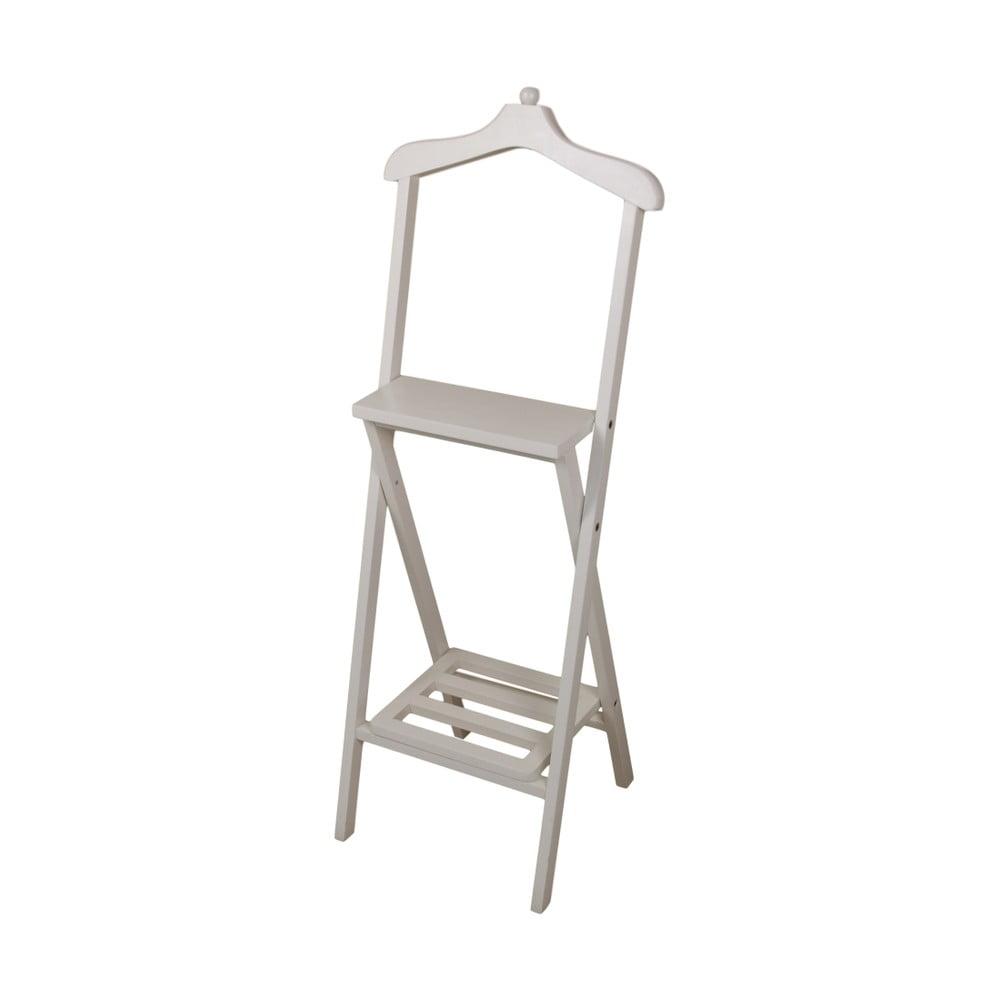 Biely nemý sluha z mahagónového dreva HSM Collection Dressboy, výška 120 cm
