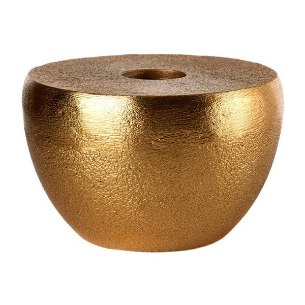 Svietnik v mosadznej farbe pols potten Discus, Ø8cm