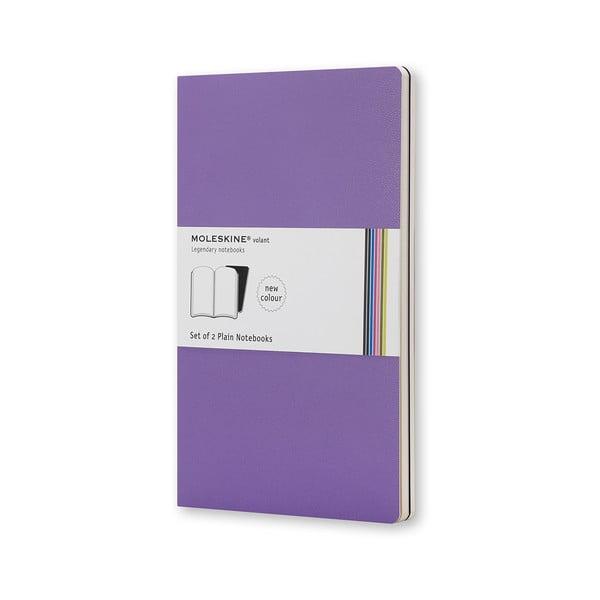 Sada 2 notesov Moleskine Violet, nelinkované 9x14 cm