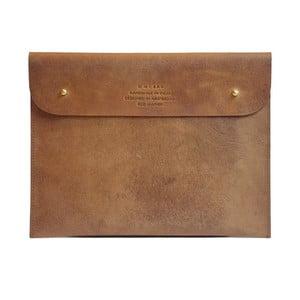 Hnedé kožené puzdro na iPad O My Bag Sleeve