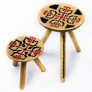 Sada 2 ručne maľovaných stoliček Iara