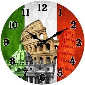 Sklenené hodiny V Taliansku, 34cm