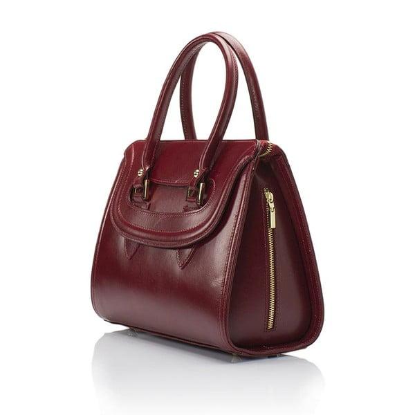 Vínová kožená kabelka Lisa Minardi Calf