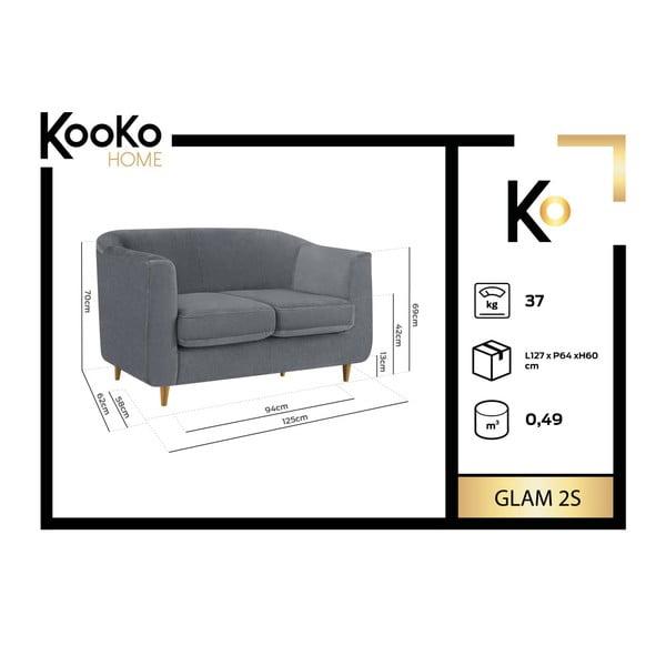 Tmavomodrá dvojmiestna pohovka Kooko Home Glam