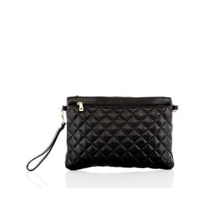 Čierna kožená listová kabelka Glorious Black Kim