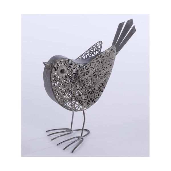 Dekoratívny kovový ptáček Bird, 23 cm