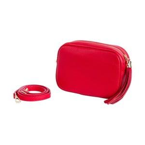 Červená kabelka z pravej kože Andrea Cardone Pezzo