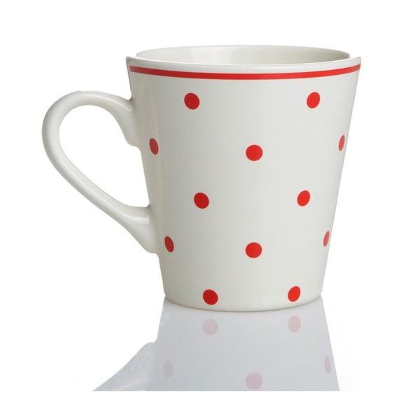 Porcelánová šálka Červené bodky, 275 ml