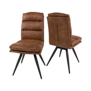 Koňakově hnedá jedálenská stolička Canett Colle