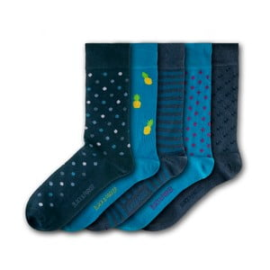 Sada 5 ponožiek Black&Parker London Knoll Gardens, veľkosť 37 – 43